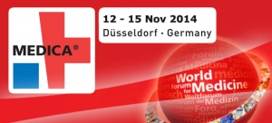The biggest event in the world of medicine, MEDICA 2014, (November 12th through the 15th in Düsseldorf - Germany).